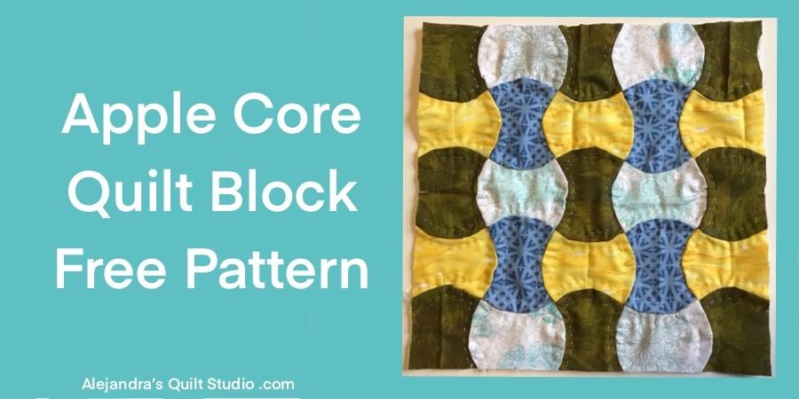 Apple Core Quilt Block