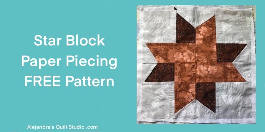 Paper Piecing Star Block