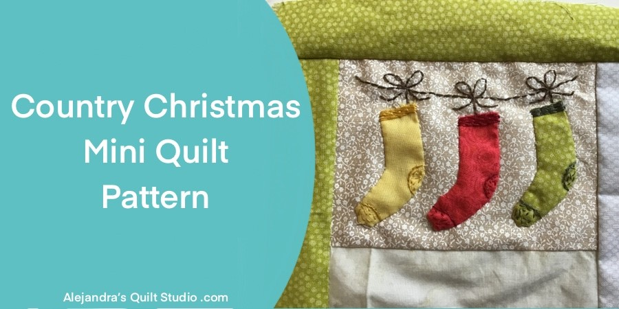 Country Christmas Mini Quilt Pattern
