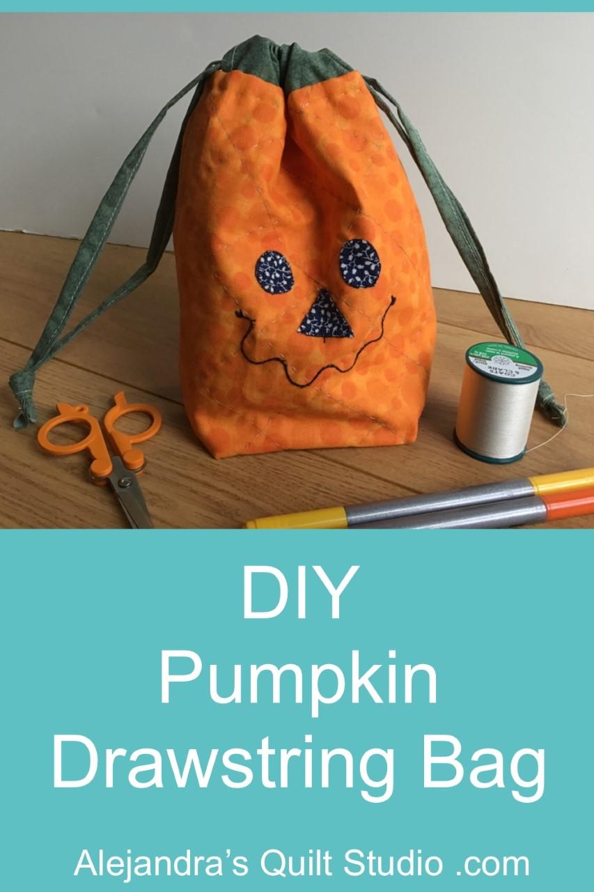 DIY Pumpkin Drawstring Bag
