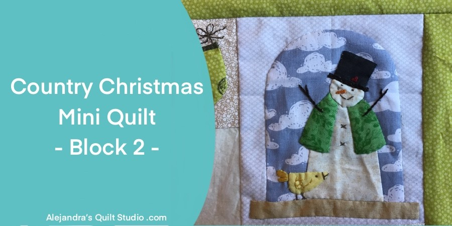 Country Christmas Mini Quilt - Block 2
