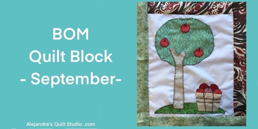 BOM Quilt Block -- September Block
