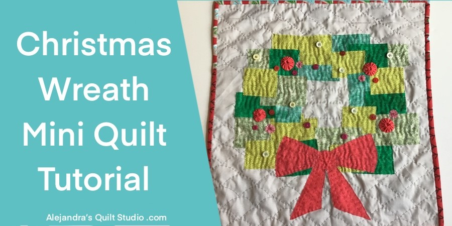 Christmas Wreath Mini Quilt
