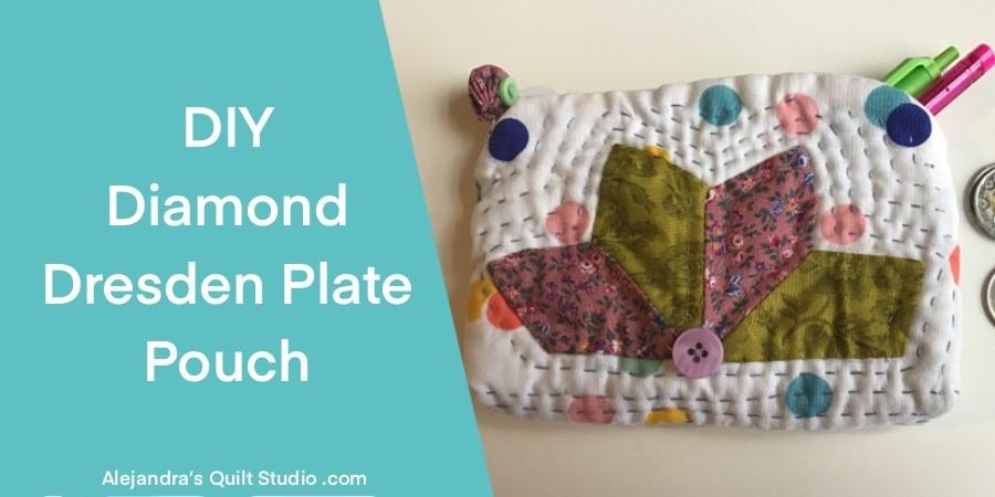 Diamond Dresden Plate Pouch