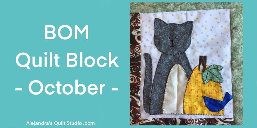 BOM Quilt Block - October